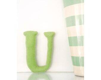 Knitted Letter U Knitting Pattern (803504)