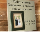 Parents Thank You Gift, Wedding Frame, Parents Gift, In-Laws Thank you Gift, Parents of the Groom, Personalized Frame, Father of the Bride