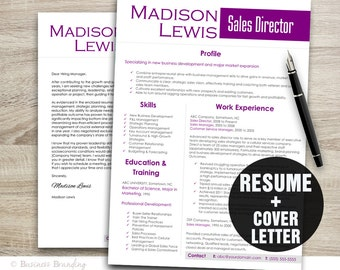 professional resume template instant download resume design template resume cover letter template word
