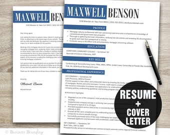 Designer Resume Template Instant Download - Resume Cover Letter Template - CV Template
