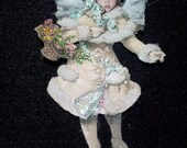 Victorian Angel Christmas ornament that can be personalized with your little angel's face!