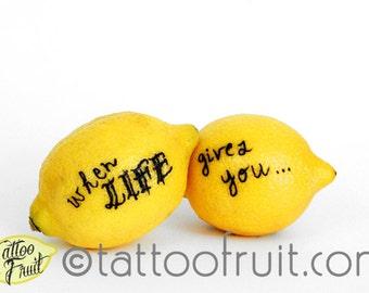 8x10 When Life Gives You ... {Lemons} Print