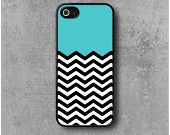 IPhone 5 / 5s / SE Case Zig Zag Chevron Blue