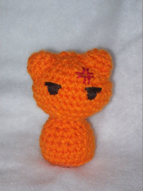 Chibi Kyo Sohma Cat Amigurumi by CraftySeri on Etsy