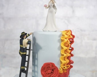 To The Rescue Fireman Cake Topper