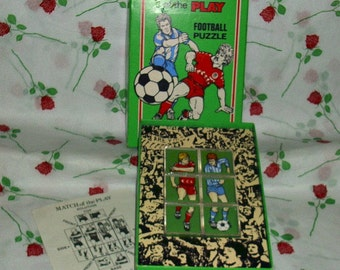 Match Of the Play Wellingtons Football Cube Puzzle Game 1980's Vintage Collectable Soccer Game Memorabilia Eighties Solution Included