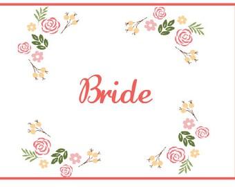 Pretty Fall Wedding Bride and Groom Signs