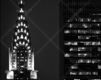 Black and White, New York City Photography, Chrysler Building, Fine Art Photography, NYC Pictures, Midtown Manhattan