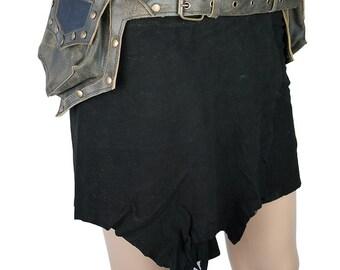 Pointy pockets festival leather pocket belt - Dullahan (0024)