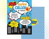Custom PRINTABLE Superhero Birthday Invitation / Invite / Super Hero / Digital