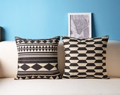 Simple Geometric Linen Pillow Pillow cover Cushion cover pillow cover Home Decor Throw  diamond pillow Decorative pillow 001 18*18in