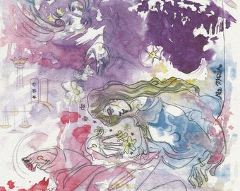 Divine Watercolor Card