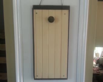 Painted wood wall decoration ,painted wood door decoration, backboard for Seasons & Sawdust items, distressed and stained ,