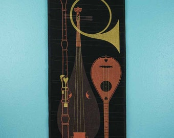 Vintage 1960s Musical Instruments Scroll