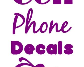 Cell phone, iPad and tablet decals, custom made to order. Monograms, quotes, pictures and more
