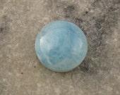 Larimar Cabochon - 16 mm Round - Larimar Cab - Dolphin Stone - Atlantis Stone - 16mm