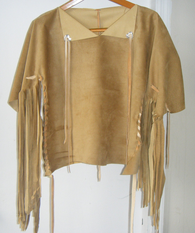 wildleder fransen shirt womens native american style. Black Bedroom Furniture Sets. Home Design Ideas