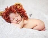 Crochet Baby Lion Bonnet Beanie Hat Newborn Photography Photo Prop Handmade Baby Shower Gift