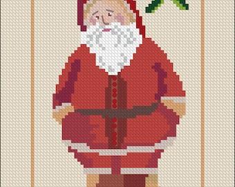 Vintage Santa Needlepoint Pattern