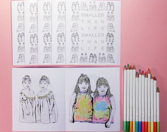 SMALLER THAN LIFE coloring book zine