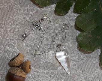 Clear Quartz Pendulum for Divination Magic