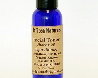 No Tosh Naturals Organic Acne Toner 2oz