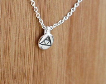 Zelda Triforce Silver Charm