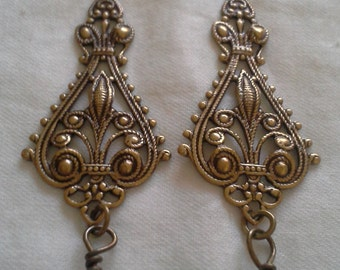 Victorian Inspired Antique Earrings = E148
