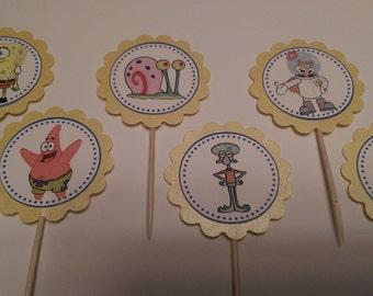 Spongebob Squarepants cupcake toppers