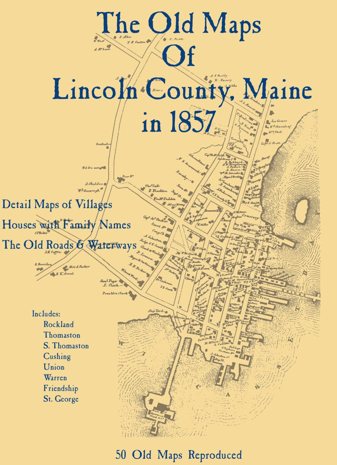 The Old Maps Of Lincoln County Maine In 1857
