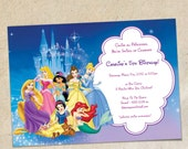 Disney Princesses Party Invitation Template - Instant Download, You Personalize & Print