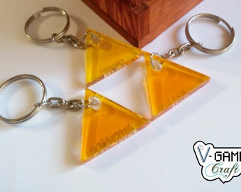 Based on The Legend of Zelda Triforce keychains