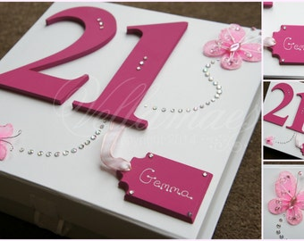 Personalised birthday keepsake Box medium MEMORY 18th 21st 30th 40th 50th 60th
