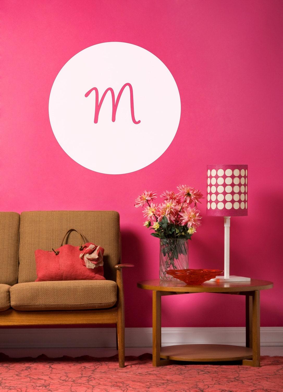 Custom Monogram Wall Decal Home Decor Office Decor Bedroom