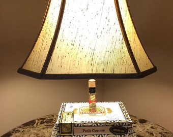 Unique Cigar Box Lamp Related Items Etsy