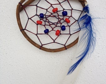 dream catcher Natural blue and red   ref: DC140401