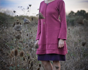 Organic Dress - Handmade from Organic Cotton and Hemp Fleece Weight Terry and hand dyed just for you