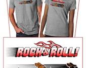 Dachshund Wheelie Wieners Rock & Roll T-shirt