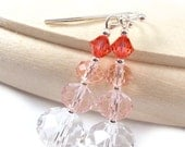 Stacked Ombré Peaches, Dangle Earrings, Plus Size Jewelry