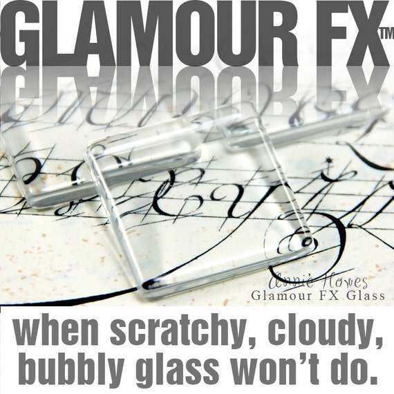 1 in clear glass tiles. Clear Square Glass Tiles for Pendants and Magnets. 25 Pack. Glamour FX Glass is an Annie Howes Exclusive.