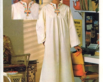 Boho caftan pattern Hippie 70s sewing pattern Butterick size 10 Uncut Retro 70s fashion style