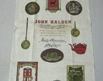 Vintage Towel Early American Signs Signed MWT