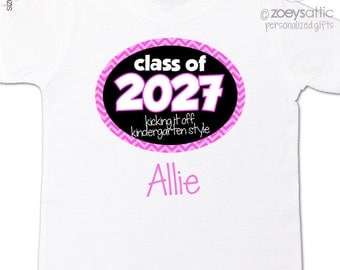 Back to school shirt - class of 2027 or any year personalized girl back to school Tshirt
