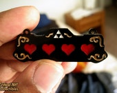Life Hearts Necklace - video game jewelry geek pendant fantasy life
