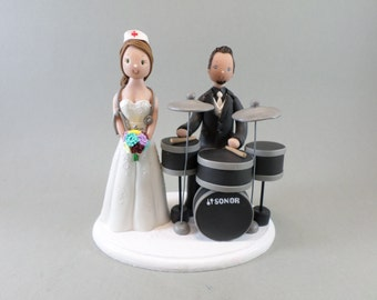 drummer wedding cake topper drums cake topper etsy 13755
