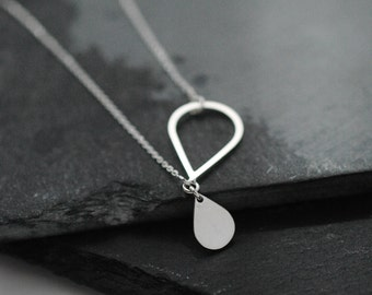 Droplet Silver or Vermeil necklace