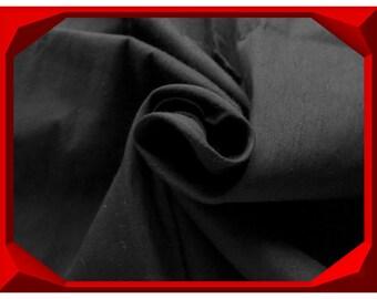 Mysterious Black Dupioni Silk Fabric, Indian Fabrics By The Yard, Black Silk Fabric, Indian Silk Fabric, Silk Dupion Fabric, Wholesale
