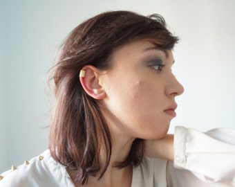 Smooth brass ear cuff for non pierced ears