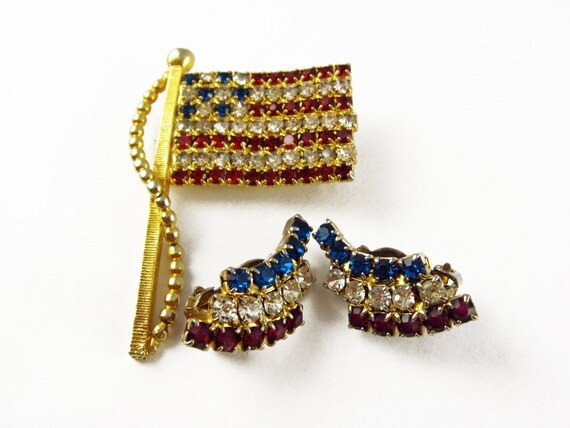 4th of july earrings white and blue rhinestone earrings 4th of july jewelry 7235