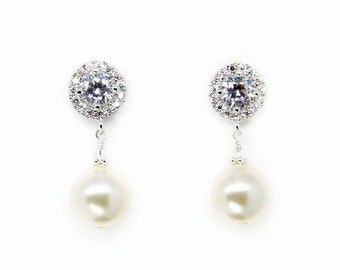 Bridal Earrings, Pearl Bridal Earrings, Art Deco Bridal Earrings, Bridal Jewelry